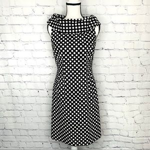 Tahari Arthur S Levine Polka Dot Dress Sz. 6P